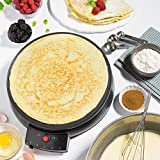 """Crepe Maker and Non-Stick 12"""" Griddle- Electric"""