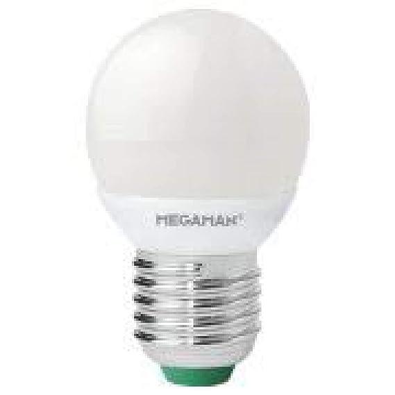 Megaman. Bombilla Led Regulable, 220-240v 5w 2800k E27. 470 lumen. Equivale a 40w. 45 x 77mm. 25.000 Horas: Amazon.es: Iluminación