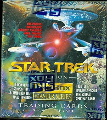 (1993 SKYBOX Master Series STAR TREK Edition Trading Cards Box- 36 packs in box)