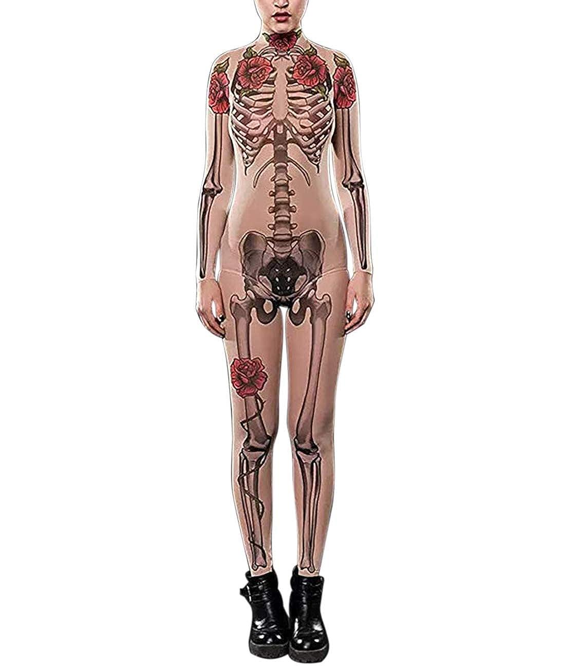 Amazon.com: Idgreatim Women Halloween Cosplay Costume 3D Print Long ...