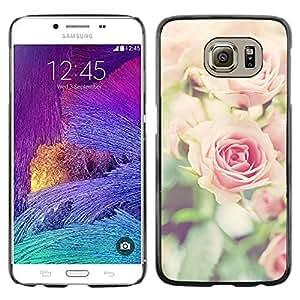 Ruses Focus Flores Campo Verde de Verano - Metal de aluminio y de plástico duro Caja del teléfono - Negro - Samsung Galaxy S6