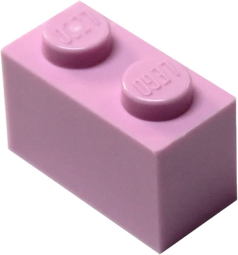 LEGO Parts and Pieces: Bright Pink (Light Purple) 1x2 Brick x20