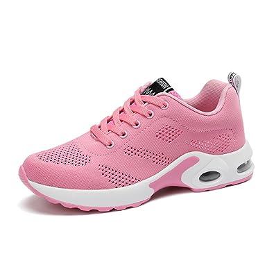 ac2cf8f9ec45 Qianliuk Sport Running Schuhe Frau Outdoors Atmungsaktiv Bequeme Paar Schuhe  Leicht Athletic Mesh Sneakers Frauen