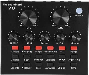 Amazon.com: V8 Cambiador de voz de tarjeta de sonido ...