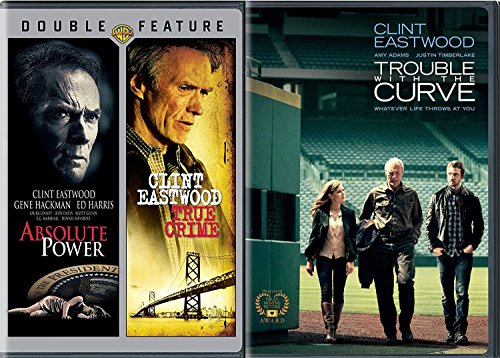 Triple Curve (Triple Clint Eastwood Trouble With The Curve + Absolute Power & True Crime Movie Collection Film Feature pack)