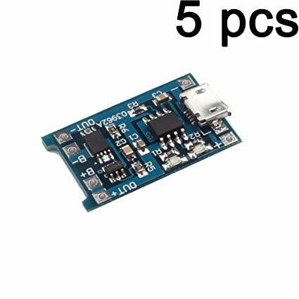 LIUXINDA-MK Muy Práctico 5PCS TP4056 Micro USB 5V 1A 18650 ...