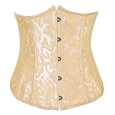 22eaee0c5d Image Unavailable. Image not available for. Color  QZUnique Women s Lace Up  Boned Plus Size Overbust Corset Bustier Bodyshaper Top