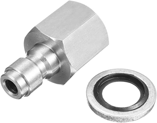 Stainless PCP Filling Quick Connect Fitting Plugs Adapter 1//8 BSPP For Air Gun