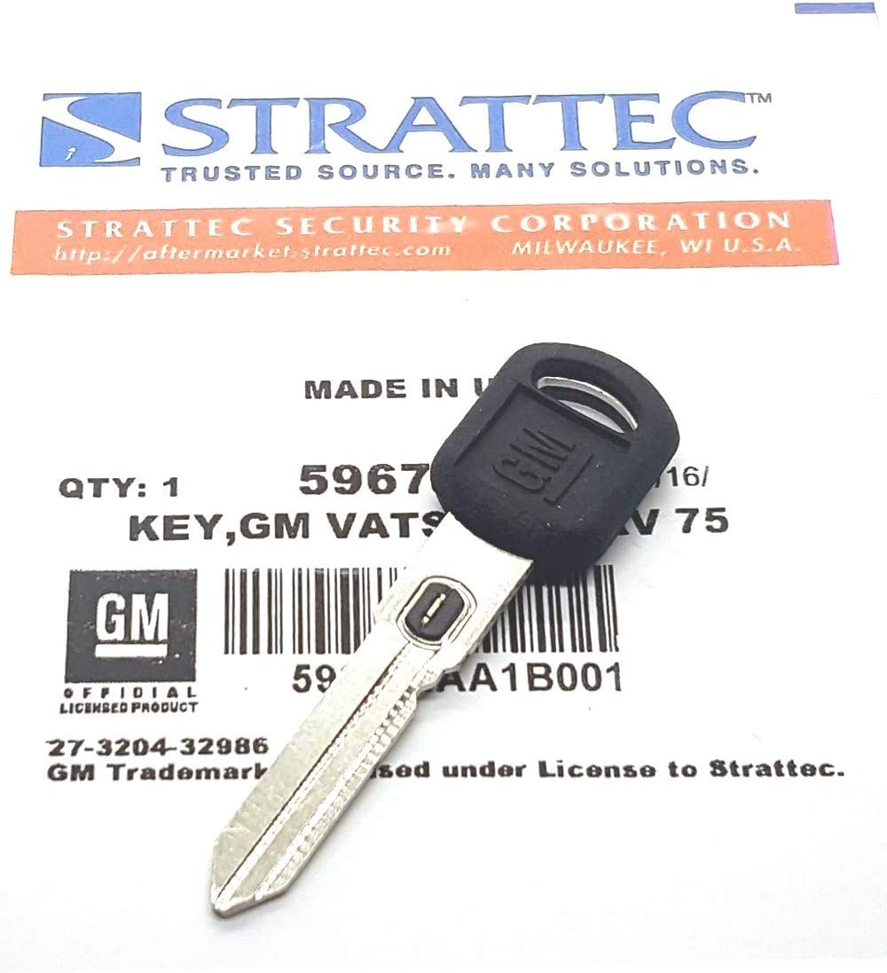 Oldsmobile /& Pontiac Vehicles GM 596785 Vats Double Sided Ignition Key Blank w//GM Logo and Vats Resistor Chip #15 Buick 15. Strattec V.A.T.S No