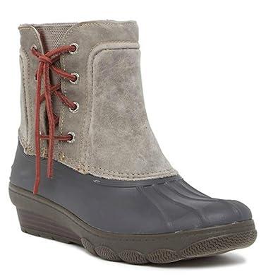 6a108820e47 Sperry Women s Saltwater Wedge Spray Duck Boot Grey ...