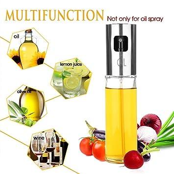 Rociador de aceite de oliva 100ml para cocinar, botella de aerosol de aceite más fuerte