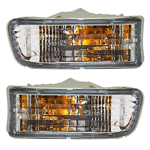Driver and Passenger Park Signal Front Marker Lights Lamps Lenses Replacement for Toyota SUV 81520-35250 (Signal Light Park Lens)