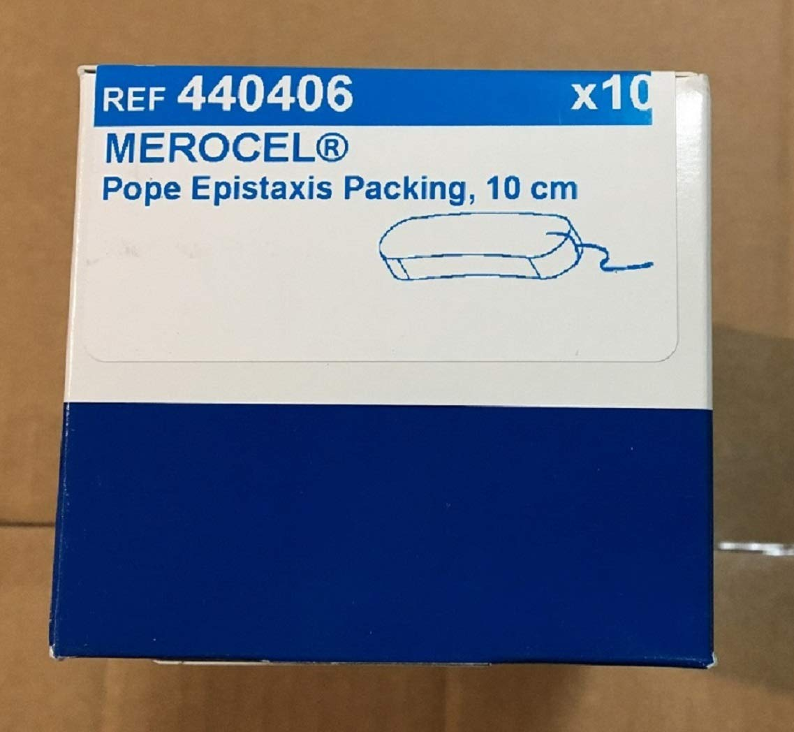 Medtronic Merocel Pope Epistaxis Packing Size 10 cm, REF 440406 (Box of 10) by Merocel Pope Epistaxis (Image #1)