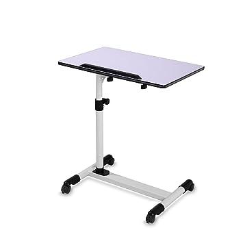 BUREI - Mesa de cama (ajustable, para hospital, con ruedas, madera), color marrón, Blanco, Dimensions: 60cm*90cm*40cm: Amazon.es: Bricolaje y herramientas