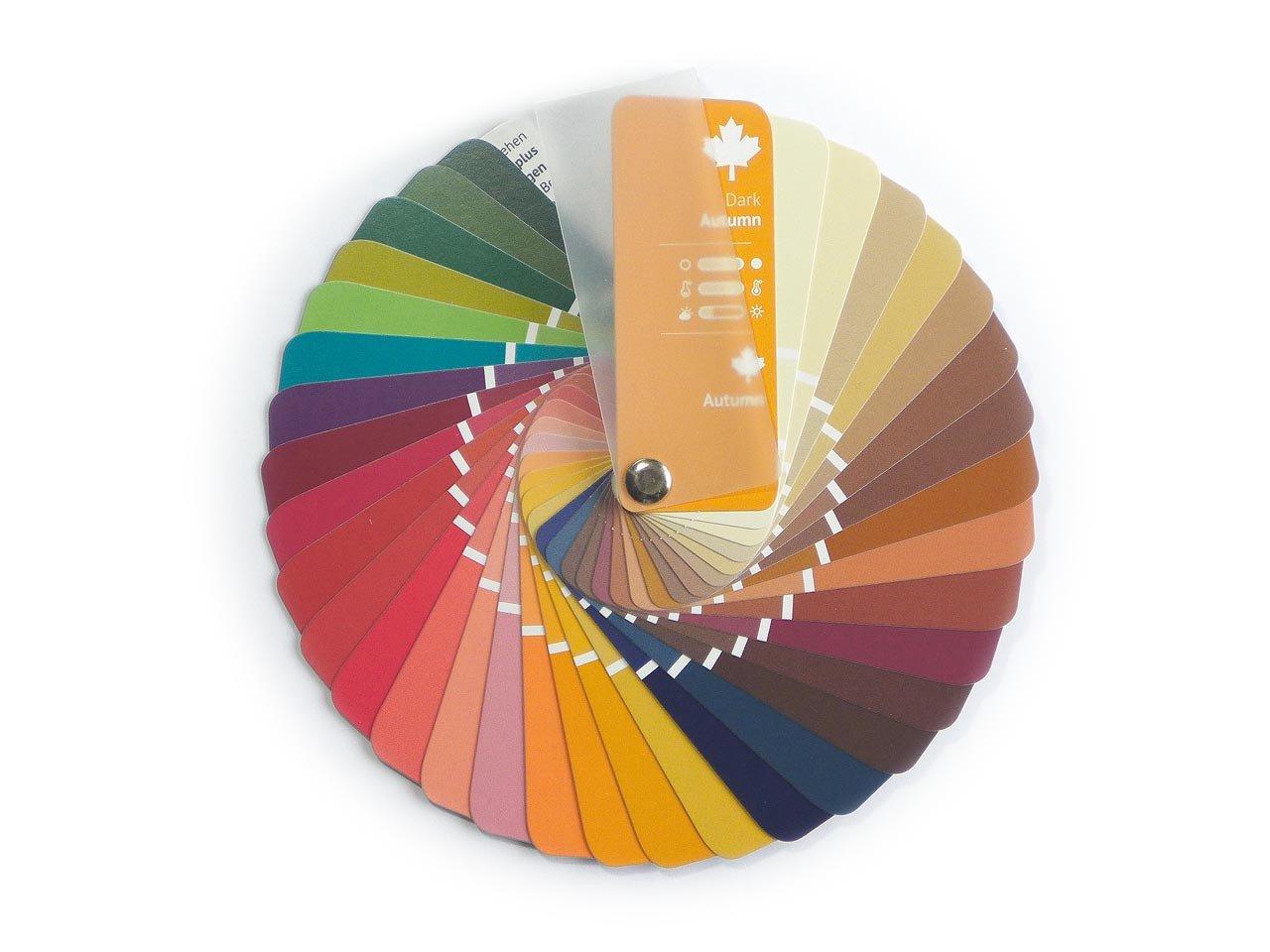 Campionario colori a ventaglio per collezione autunno con 35 colori Kolibri Image GbR P96
