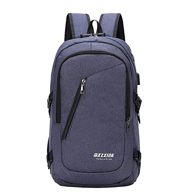 JiaMeng Unisex USB Mochila Messenger Bag Moda Casual Bolsa de Viaje al Aire Libre Mochila Portátil Hombre Pulgadas Puerto USB Impermeable Trabajo: ...