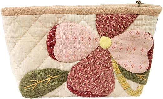 Hacer un bolso y flores estuche maquillaje bolsa de sencillos proyectos de costura patchwork quilt Kit: Amazon.es: Hogar