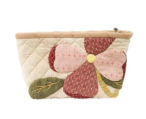 Hacer un bolso y flores estuche maquillaje bolsa de ...