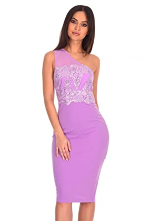 be37d5037f58f AX Paris Women s One Shoulder Sequin Embroidered Bodycon at Amazon Women s  Clothing store