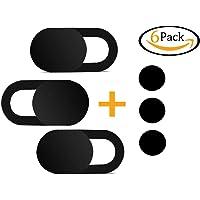 CreepBlocker Premium Webcam Abdeckung inkl. 3X Gratis Webcam Sticker Webcam Cover | Ultra Flach & Selbstklebend | Laptop Kamera Abdeckung | Handy Kamera Abdeckung Gegen Spionage | 3er Set Schwarz