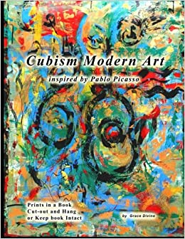 learn about art coloring book inspired by pablo picasso for japan japanese language synthetic cubism collages with 21 original handmade artist grace divine japanese edition
