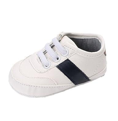 70310ed2e51bf Chaussures de bébé Auxma Chaussures bébé garçon à semelle souple  anti-dérapante Chaussures enfant en bas âge pour 3-6 6-12 12-18 mois   Amazon.fr  Chaussures ...
