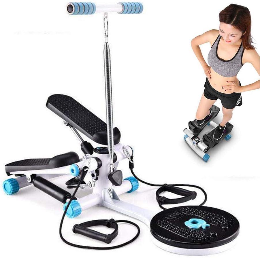 HSART - Escalera de fitness para ejercicio, mini paso en casa con reposabrazos y bandas de resistencia para interiores y ejercicio cardiovascular, para mujeres y hombres: Amazon.es: Deportes y aire libre