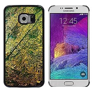 iKiki Tech / Estuche rígido - Aerial View Photography Yellow - Samsung Galaxy S6 EDGE SM-G925