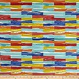 Covington Fabrics & Design Covington Indoor/Outdoor Jenga Multi Fabric, Gold/Red/Black