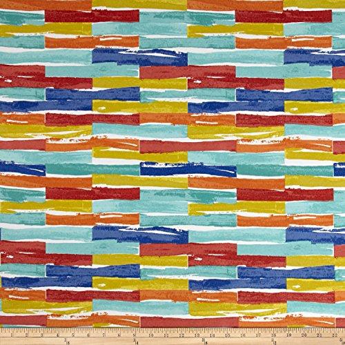 Covington Fabrics & Design Covington Indoor/Outdoor Jenga Multi Fabric, Gold/Red/Black by Covington Fabrics & Design