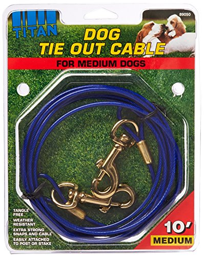Coastal Pet Products DCP89050 Titan Dog Medium Tie Out Cable, 10-Feet by Coastal Pet