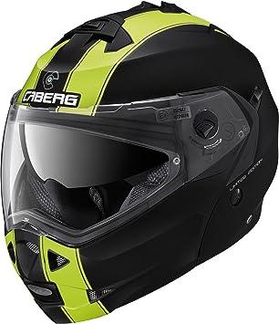 Caberg Klapp Helm Duke II 2 Legend Schwarz Gelb Matt Motorrad Sonnenblende Pinlock Jet, C0IC00A7
