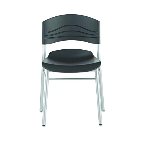 Iceberg ICE64517 CafeWorks Cafe Chair with Heavy Gauge Steel Frame, 21 Width x 32 Height x 19 Depth, Black Pack of 2