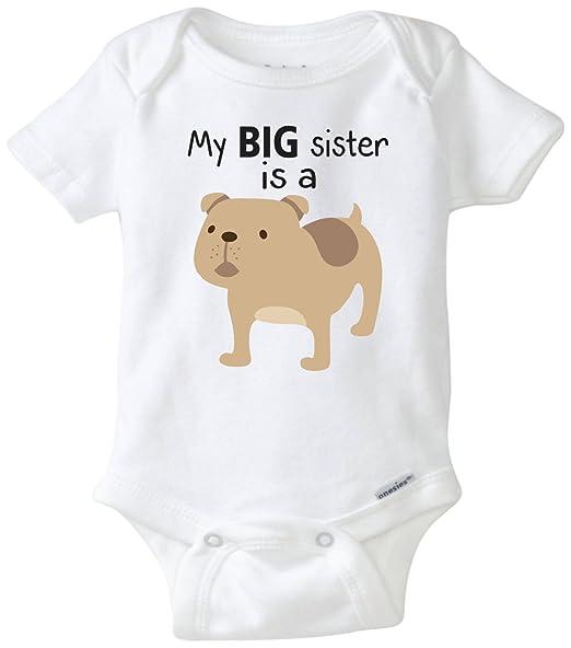 SKYAKLJA Toddler Bulldog Infant Unisex Toddler Long Sleeves Bodysuit