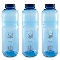 AcalaQuell Wasserfilter Tritan Trinkflaschen 1,0 Acala Sparset mit Blume des Lebens