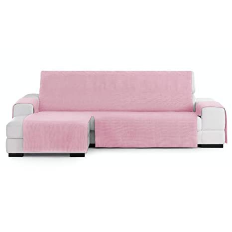 Innovaciones Roser Funda Cubre Chaise Longue Práctica Modelo Kioto, Color Rosa, Medida Brazo Izquierdo – 240cm (Mirándolo de Frente)