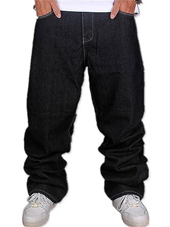 5fd1cdd4dd YY-Rui Men s Classic Plain Hip Hop Skateboard Loose Dance Jogging Long  Casual Black Pants