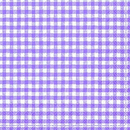 Checked gingham blue white vichy paper 3 ply napkins 33 cm square 20 in a pack