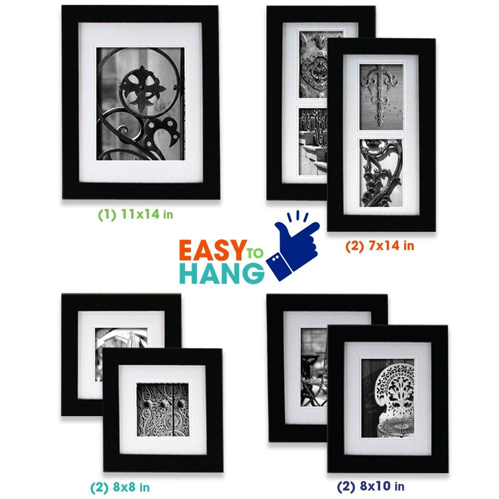 Pinnacle Frames and Accents 11FW794 Set de Marco para 7 Fotos, negro ...