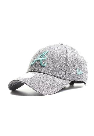 New Era Men Caps Snapback Cap Tech Jersey Atlanta Braves 9Forty Grey  Adjustable d6bb0b4eae30
