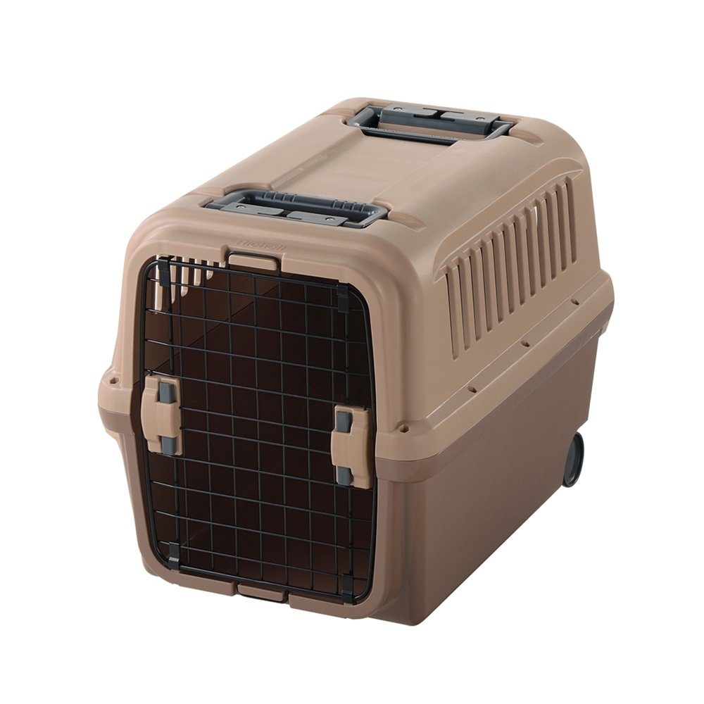 Richell 94915 Mobile Pet Carrier, Large, Brown by Richell