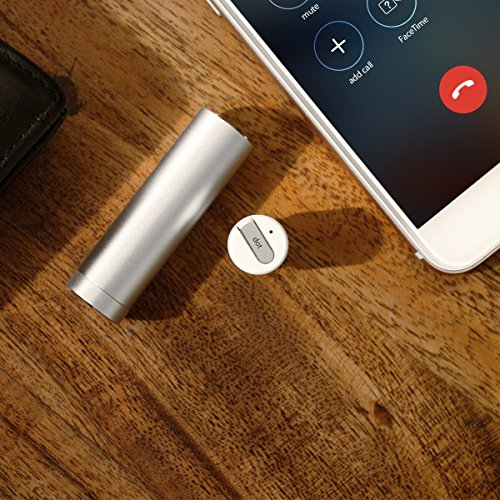 61 d76kKEwL - DOT: Mono Wireless Bluetooth Earbud – Bluetooth 4.1 w/ Mic & Noise Reduction Technology. Comes w/ 2-in-1 Power Bank Charging Case. WORLD?S SMALLEST as Seen on Indiegogo! Hands-Free Earphone Headset