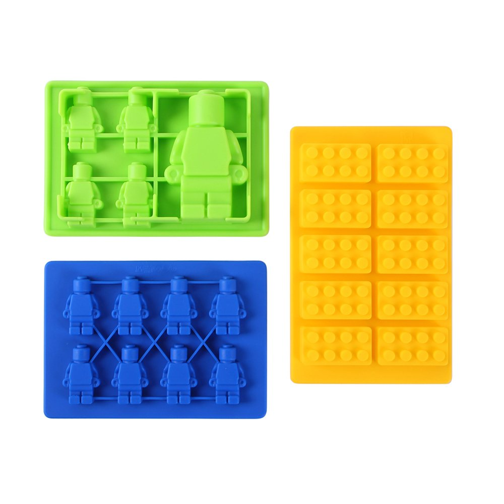Ohuhu Candy Mold & Silicone Mold - 3 Style Lego Building Blocks Jello And Toy.. 10