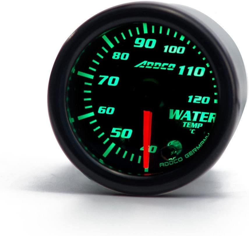 Epman ad-ga52wta 7/color LED 5,1/cm 52/mm Smoke Face Water Temp gauge temperatura Meter auto gauge con sensore e supporto