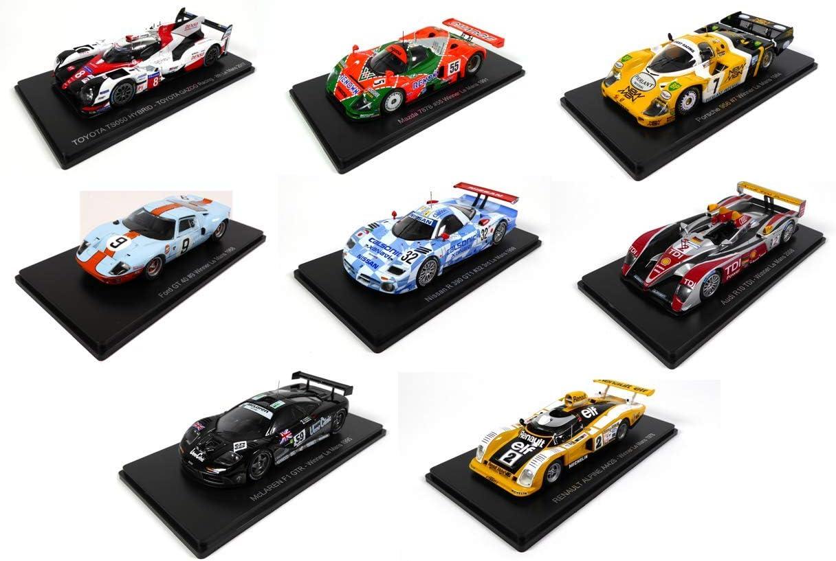 Lot Von 8 Le Mans Spark Autos 1 43 Für Hachette Japon Toyota Mazda Porsche Ford Gt40 Nissan Audi Mac Laren Alpine Renault 01 Bis 08 Spielzeug