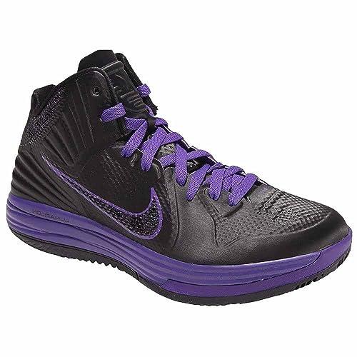 Nike Lunar Hypergamer Black Club Purple Fuse Mens Basketball Shoes 469756-005