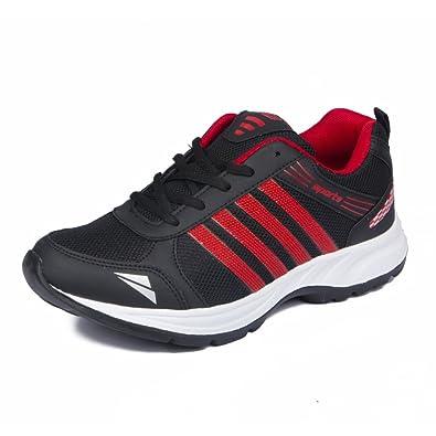 sports shoes 5bbd4 458e3 ASIAN Shoes Wonder 13 Black Red Men's Sports Shoes