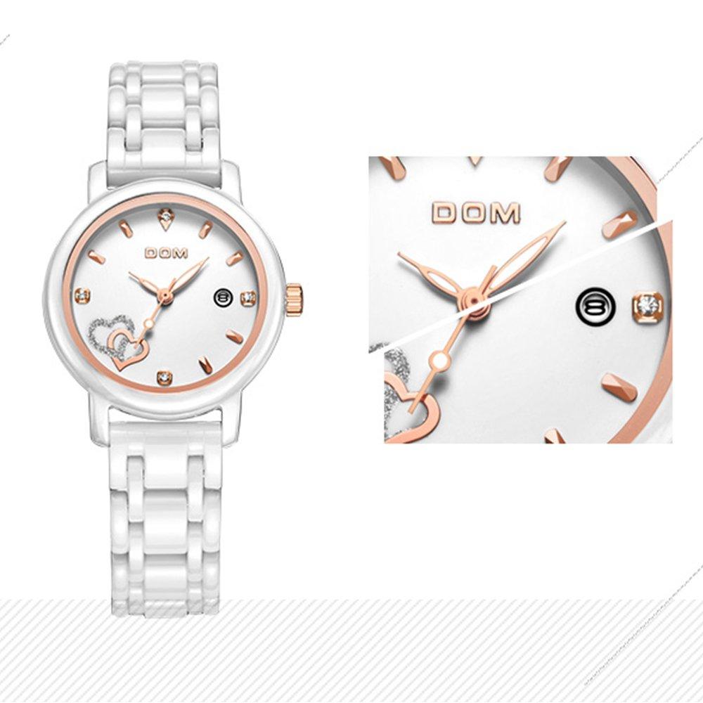 Amazon.com: Sheli Women Luxury Watches Waterproof Quartz Watch White Ceramic Nurse Wedding Watch Reloj Mujer: Watches