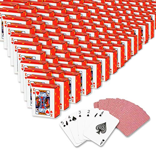 Kicko Mini Playing Cards - Pack of 144, Plastic Coated Miniature Poker Cards - Good for Fun on Parties and Events, Casino Game Set, Props, and Souvenirs - for Kids and Adults