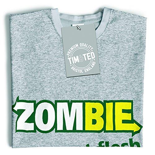 Zombie mangiare la carne divertente parodia Premium Living Dead Walking T-Shirt Da Donna